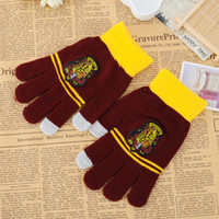 Wholesale Movie Series New Arrival Hot Sale Clothing Accessory Harry Potter School Badge Warm Gloves Colors Selecting Winter Using