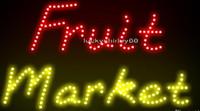 advertising marketing - Ultra Bright LED Neon Light Animated Led Fruit Market Neon sign lights size cm indoor advertising led display
