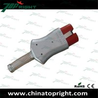 Wholesale 2 pins high temperature plug body aluminum and the silicone rubber head