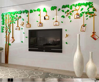 acrylic wall frames - 2016 Hot Acrylic D Photo Frame Tree Wall Stickers for Living Room Television Walls Removable Wall Decals Family Memory Home Decor
