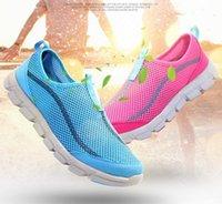 Wholesale 2016 Summer women men mesh breathable casual shoes Cheap woman Man s flats shoes breathable Zapatillas Casual Shoes size