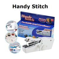 Wholesale Mini Practical Portable Handheld Electric Sewing Machine Cordless White Household Handy Stitch Electric Gift factory Price