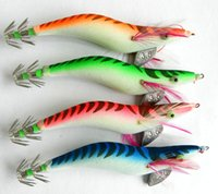 Wholesale HENGJIA Fishing Jigs Cuttlefish Wood shrimp Fishing Hooks Squid Jig Fishing Lures CM G