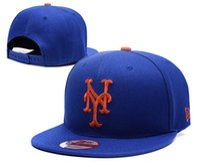 Wholesale Men s sport team hats embroidered link logo MLB New York Mets Snapback adjustable baseball snapback caps