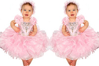 Cheap Cute Flower Girls Dress Spaghetti With Bows Decoration Infant Toddler Cupcake Gowns Pageant Dresses For Little Girl Formal Occasion
