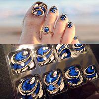 beautiful toe nails - Free delivery of new piece fake nails super beautiful foot nail trimming toenails summer foot NiAl false nail beauty