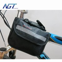Wholesale colors bicycle bags bike pack bicycle frame bag mountain bike beam bag with cell phone bike riding gear