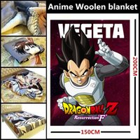 Wholesale Anime Dragon Ball Z Son Goku Vegeta Frieza Piccolo Son Gohan Whis Beerus Beautiful Woolen blanket Sheets Dual purpose