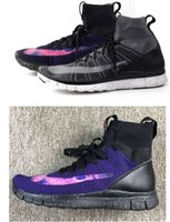 Cheap Black Purple New Color Women Run Free5.0 Mens Casual Boots High Top Winter Shoes Mercurial Soperfly EUR36-45