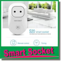 achat en gros de répéteur sans fil longue portée-S20 Intelligentized Socket Onfine Wifi Smart Power Socket téléphone portable à longue distance à distance Répéteur de contrôle à puce Plug Sockets OM-CI6