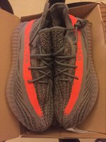 big outdoor lights - 2016 Best Quality Kanye West SPLY Boost Season Grey Orange Running Shoes Primeknit TPU Boost Bottom Size With Big Number Box