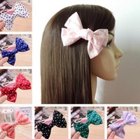 baby lulu - Baby Girls Solid Dot printing Lulu Lemo Headbands Kids Hairband Sport Kid Butterflies Girls Hairpins Kids Gifts Hair Accessories L56