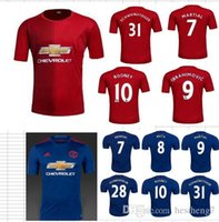 Wholesale best thai quality MancHESTER IBRAHIMOVIC Pogba Rugby jerseys AWAY BLUE ROONEY MEMPHIS MARTIAL unITED football SHIRT
