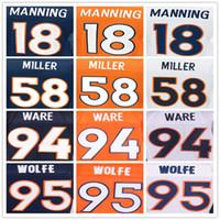 anti ware - Denver football Broncos jerseys Peyton Manning DeMarcus Ware Von Miller Demaryius Thomas Paxton Lynch Emmanuel Sande elite