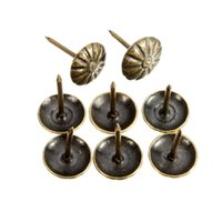 antique upholstery tacks - 100pcs Antique Brass Upholstery Nail Jewelry Gift Wine Case Box Sofa Decorative Tack Stud Pushpin Doornail Hardware x16mm