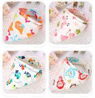 baby neckerchief bibs - Popular Baby Feeding Bib Burp Cloth Triangle Cotton Snap Fastener Thicken Kid Children Double Layers Pinny Cute Lovely Neckerchief White