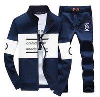 Wholesale Newest design Spring Autumn Men Sport Tracksuit Leisure Slim Fit Sportwear Set Hoodies Suit Plus Size XL XL