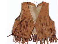 Wholesale Baby Girls coat vest kids girl A1116 fashion leopard tank Girls Vest autumn Girl outwear