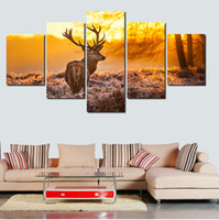 bedroom sheet - 2016 New Hot Print Deer Animal Oil Paintings Picture Canvas Painting On Wall Pictures For Living Room Decor Hang Paintings Bedroom