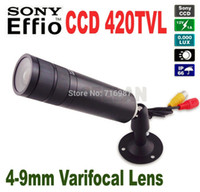 Wholesale Mini Bullet camera mm Varifocal Lens quot Sony CCD TVL Color Mini Bullet Outdoor Waterproof CCTV Security Camera Hidden camera