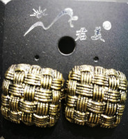 Wholesale 2016 New Fashion Anti brass Plated Earring square trend of back to ancients Earrings