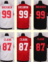 Wholesale 2016 New Men s DeForest Buckner Dwight Clark Black White Red Top Quality jerseys Drop Shipping
