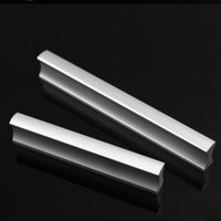 aluminum pull handle - 10pcs Modern Aluminum Alloy Furniture Hardware Handles Door Knobs Dresser Drawer Wardrobe Kitchen Cabinets Cupboard Pull Door Accessories