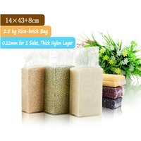 bag of rice - 100 kg x43cm Side Gusset Nylon Rice Bag Packaging Of Rice Plastic Bags For Rice Packaging