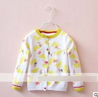 baby crane - Fashion Cartoon Baby Girls Cardigan Autumn Lemon Red crowned Crane Korean Children Knit Sweater Fall Kids Outwear