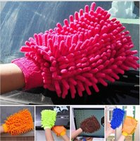 Wholesale Specialized Car Wash Glove Microfiber Chenille Car Cleaning Cloth Washing Cleaning Glove Hot Special offer