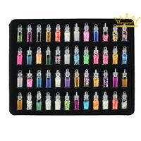 arts pearl powder - 2016 New Sale bottles nail art charms kit contain random nail art pearl sequin glitter powder acrylic rhinestone and so on