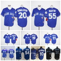 Wholesale Cheap Toronto Blue Jays Baseball Jerseys Kevin Pillar Toronto Blue Jays Jose Bautista Josh Donaldson Russell Martin Mlb Men