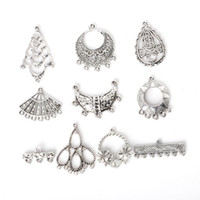 antique gold earring findings - New New Zinc Alloy Connector for Earrings Pendants Charm Mixed Antique Silver Plated Charms Jewelry Findings for D