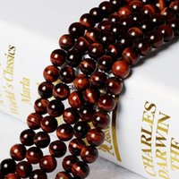 Wholesale natural AAA Brazil red Tigereye pseudocrocidolite woodstone LOOSE BEADS BEADED semi finished accessories