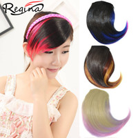Wholesale High Quality Front Synthetic Hair Bang Extension Clip In Hair Bang Hairpieces Heat Resistant Synthetic Hair Bang hair Fringe pc