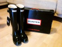 Wholesale Drop Shipping Hunter Boots Women Wellies Rainboots Ms Glossy Hunter Wellington Rain Boots Wellington Knee Boots Fast Delivery DHL free