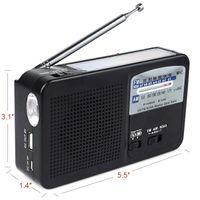 alert radio - NOAA Weather Alert Radio FM AM Solar Hand Crank Dynamo Emergency Tool With Flashlight Y4185A
