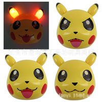 children dance costumes - Poke Pikachu Party Masks Pikachu Halloween Mask LED Poke Pikachu Mask Dance Mask Costume Party Children Mask Party Decorations E8