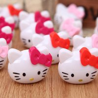baby shower pencils - 12pcs Baby shower souvenirs for girl Cartoon hello kitty pencil sharpener princess party gift favors supply