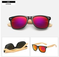 bamboo wholesale - MOQ summer Men s Radiation bamboo Sunglasses cycling glasses driving glasses woman moso bamboo driving sun glasses colors