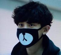 Wholesale Black Anti Dust Cotton Cute Bear Mouth Mask Kpop EXO Chanyeol Chan yeol