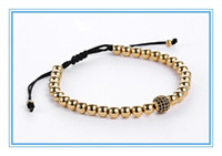 ball facebook - Instagram Facebook Hot Sell Stainless Steel Anil Arjandas CZ Ball Diamonds Zircon Macrame Cord cm Bracelet For Couple