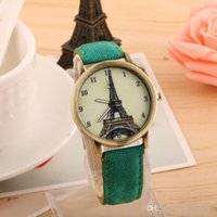 Wholesale Hot sale pieces Quartz Wrist Watch Bracelet Simple Tower Watch Denimantique ancient women watch