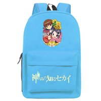 backpack the world - New Brand Hot Anime Luminous Backpack Unisex Simple Canvas The World God Only Knows Schoolbag Fashion Travel bag Shoulders Bag No