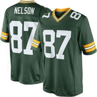big green football - 2016 Elite new football jerseys Jordy Nelson Player Jersey Embroidery White Green Blue jerseys Big order for DHL