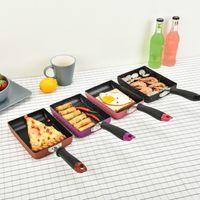 Wholesale Creative Square Breakfast Omelette Pans Non stick Aluminum Alloy Frying Pan Fashion Mini Saucepan Pans