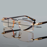 Wholesale 2016 fashion high quality men style reading glasse new design presbyopic rimless single vision casual spectacles for men hyperopia
