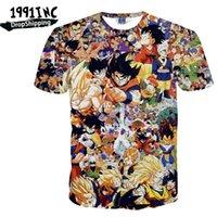 anime shirt designs - INC Men T Shirts Dragonball Z DBZ Anime Funny Design Casual Camisetas Round Neck Top Tees Man Tee Short Sleeve