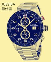 Wholesale Men s watches all steel table Six stitches leisure Fashion watches sports series of high grade watch quartz watch good Juesiba0001 no box