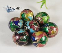 Wholesale quot Yi Gu Tang quot DIY beads years old goods Silver Blue Cloisonne filigree Enamel Cloisonne Beads